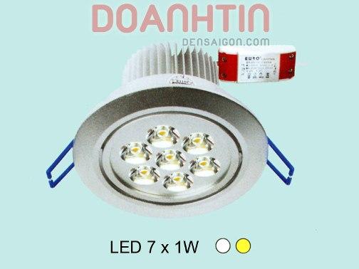 Đèn Mắt Ếch LED Thiết Kế Gọn Nhẹ mặt sơn trắng - Densaigon.com