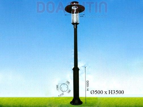 Đèn Trụ Khuôn Viên Màu Đen - Densaigon.com