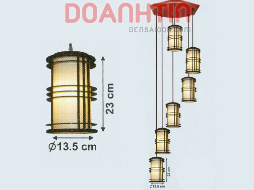 Đèn Thả Da Dê Thiết Kế Nổi Bật - Densaigon.com