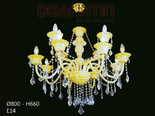 Đèn Chùm Pha Lê Tỏa Ánh Nến Lung Linh - Densaigon.com