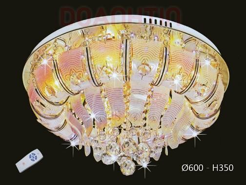 Đèn Chùm LED Tròn Kiểu Áp Trần Thiết Kế Đẹp - Densaigon.com