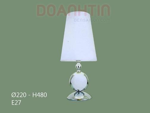 Đèn Ngủ Để Bàn Gỗ Màu Trắng - Densaigon.com