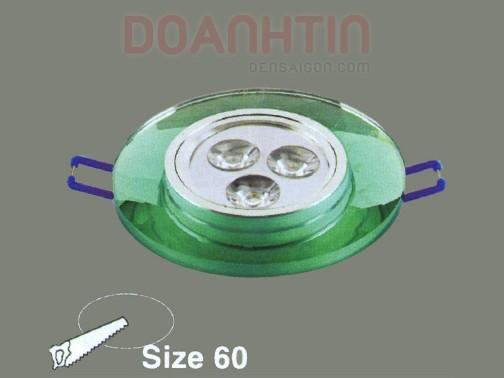 Đèn Mắt Ếch Pha Lê Màu Xanh Lá - Densaigon.com
