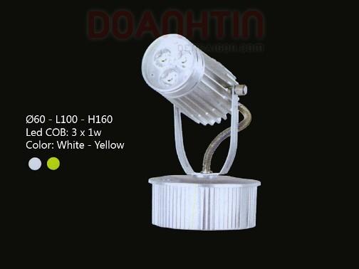 Đèn Rọi Tiêu Điểm LED Cao Cấp Thiết Kế Trơn Láng - Densaigon.com