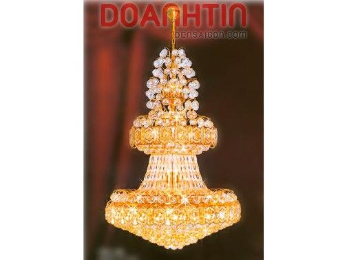 Đèn Chùm Pha Lê Thiết Kế Đẹp Treo Phòng Khách - Densaigon.com
