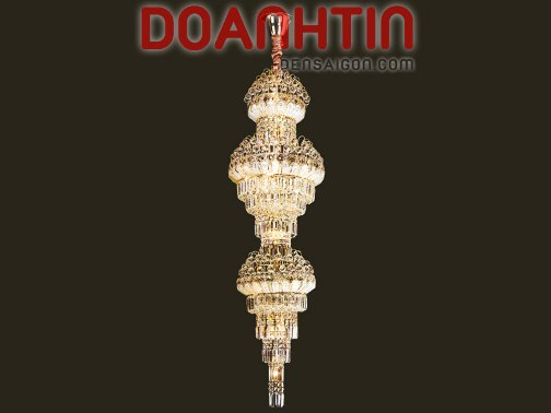 Đèn Chùm Pha Lê Thông Tầng Đẹp - Densaigon.com