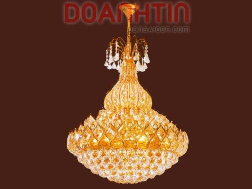 Đèn Chùm Pha Lê Phòng Khách Ánh Sáng Mờ Ảo - Densaigon.com