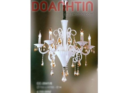 Đèn Chùm Pha Lê Nến Phong Thái Tôn Quí - Densaigon.com