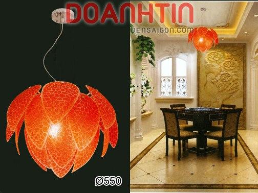 Đèn Chùm Kiểu Ý Màu Đỏ Trang Trí Nội Thất - Densaigon.com