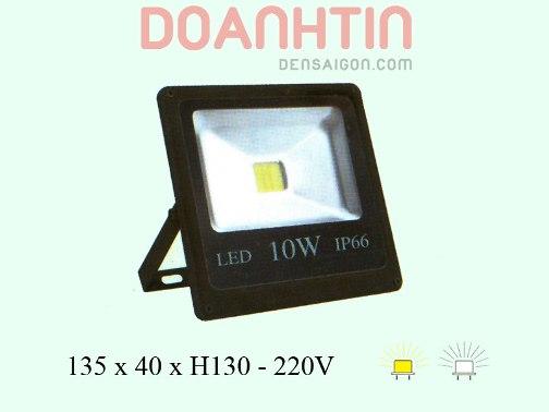 Đèn Pha LED Trắng Vàng Mới - Densaigon.com