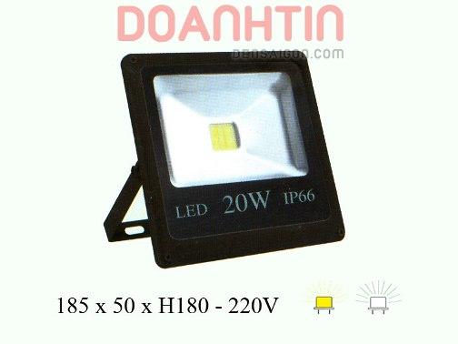 Đèn Pha LED 20W Trắng Vàng Mới - Densaigon.com