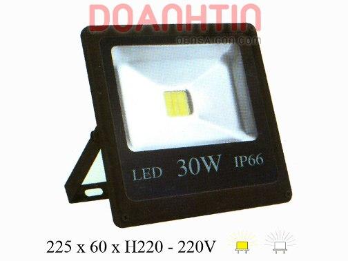 Đèn Pha LED 30W Trắng Vàng Mới