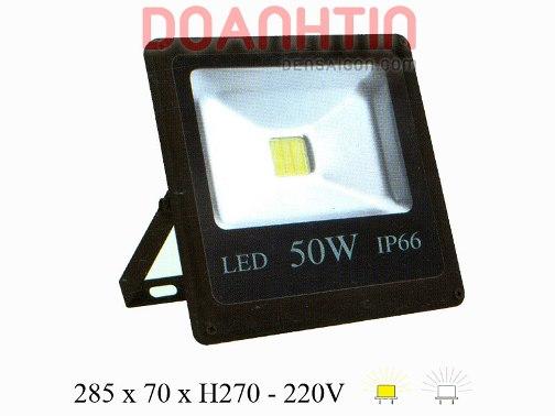 Đèn Pha LED 50W Trắng Vàng Mới