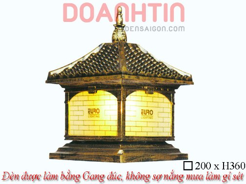 Đèn Cổng Giả Đồng Thiết Kế Ấn Tượng - Densaigon.com