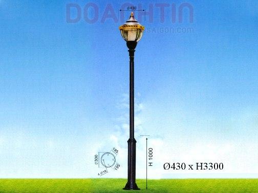 Đèn Trụ Sân Vườn Đẹp Kiểu Dáng Trang Nhã - Densaigon.com