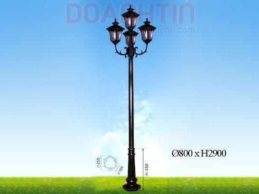 Đèn Trụ Khuôn Viên Đẹp Thiết Kế Lãng Mạn - Densaigon.com