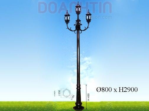 Đèn Trụ Công Viên Đẹp Kiểu Dáng Nổi Bật - Densaigon.com