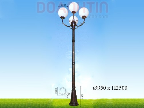Đèn Trụ Khuôn Viên Đẹp Kiểu Dáng Bắt Mắt - Densaigon.com