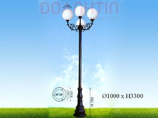 Đèn Trụ Kiểu Dáng Trang Nhã - Densaigon.com