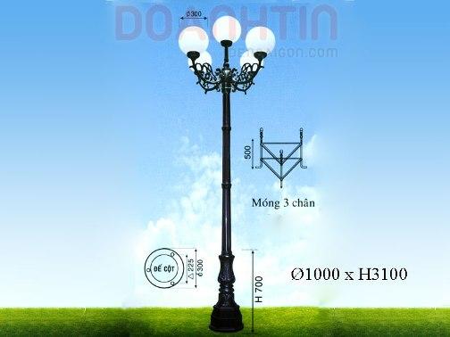 Đèn Trụ Kiểu Dáng Hiện Đại - Densaigon.com