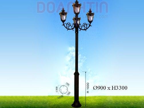 Đèn Trụ Kiểu Dáng Sang Trọng - Densaigon.com