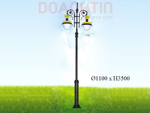 Đèn Trụ Đẹp Kiểu Dáng Nhẹ Nhàng - Densaigon.com