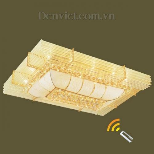Đèn Chùm LED Pha Lê Hình Chữ Nhật Hiện Đại Treo Phòng Khách