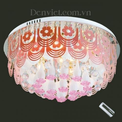 Đèn Chùm LED Màu Hồng Trang Nhã Treo Phòng Ngủ - Densaigon.com