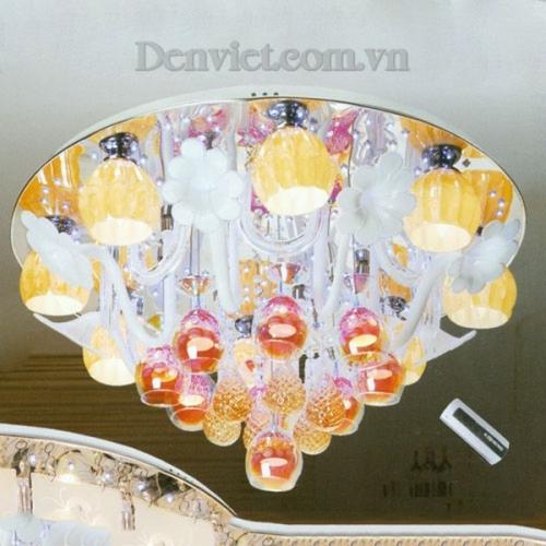 Đèn Chùm LED Tròn Màu Sắc Đẹp Treo Phòng Khách - Densaigon.com
