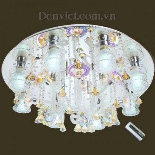 Đèn Chùm LED Tròn Màu Trắng Treo Phòng Khách - Densaigon.com