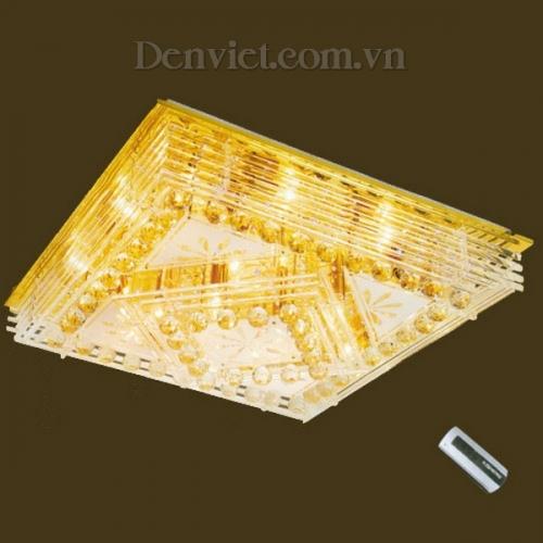Đèn Chùm LED Pha Lê Hình Chữ Nhật Đẹp Treo Phòng Khách
