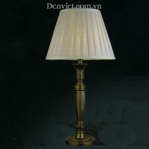 Đèn Để Bàn Đồng Chao Vải Trang Trí Đẹp - Densaigon.com