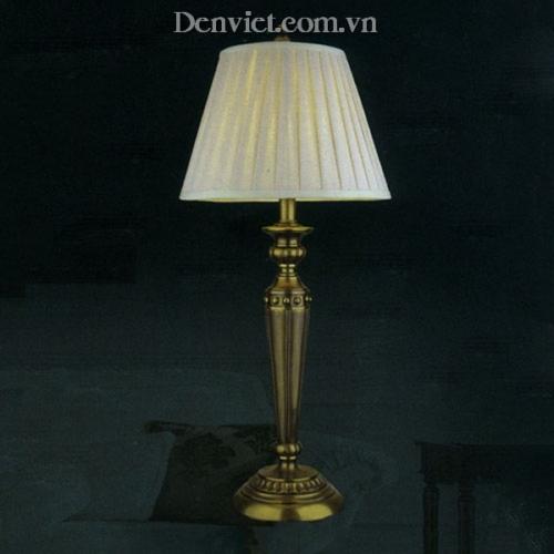 Đèn Để Bàn Đồng Chao Vải Trang Trí Phòng Ngủ Đẹp - Densaigon.com