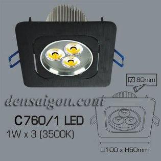 Đèn Mắt Ếch LED Vuông Thiết Kế Hiện Đại - Densaigon.com