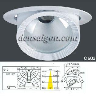 Đèn Rọi Tiêu Điểm Phong Cách Ấn Tượng - Densaigon.com