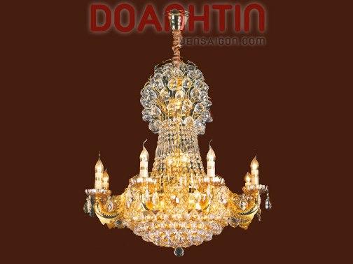 Đèn Chùm Pha Lê Nến Treo Phòng Ăn Kích Thước Lớn - Densaigon.com