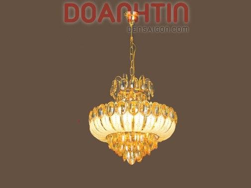 Đèn Chùm Pha Lê Phòng Khách Trang Trí Đơn Giản - Densaigon.com