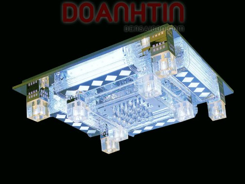 Đèn Chùm LED Chữ Nhật Kiểu Dáng Bắt Mắt - Densaigon.com