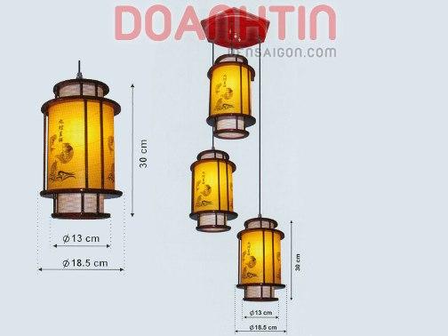 Đèn Thả Da Dê Kiểu Dáng Hài Hòa - Densaigon.com