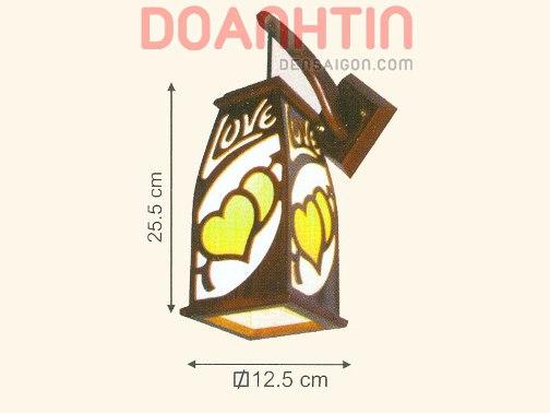 Đèn Tường Da Dê Thiết Kế Đơn Giản - Densaigon.com