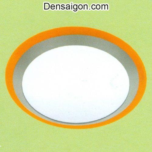 Đèn Áp Trần Tròn Đơn Giản Viền Cam - Densaigon.com