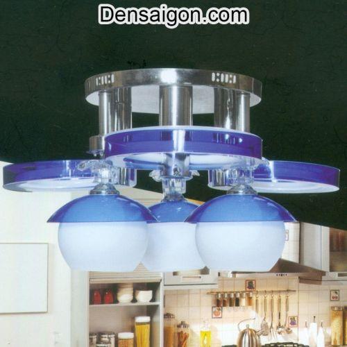 Đèn Áp Trần LED Tròn Màu Xanh - Densaigon.com