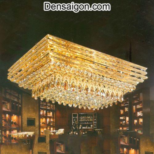 Đèn Áp Trần Pha Lê LED Đẹp Sang Trọng - Densaigon.com