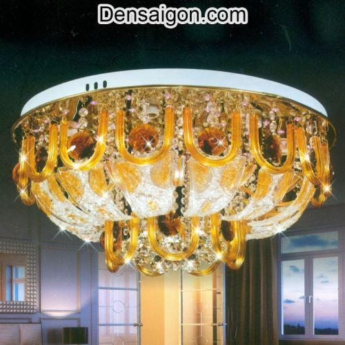 Đèn Chùm Pha Lê LED Màu Vàng Sang Trọng - Densaigon.com