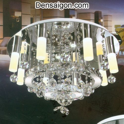 Đèn Chùm Pha Lê LED Sang Trọng Treo Phòng Khách - Densaigon.com