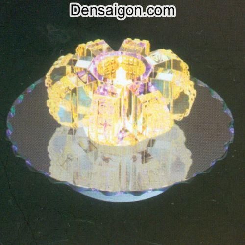 Đèn Áp Trần Pha Lê Màu Vàng - Densaigon.com