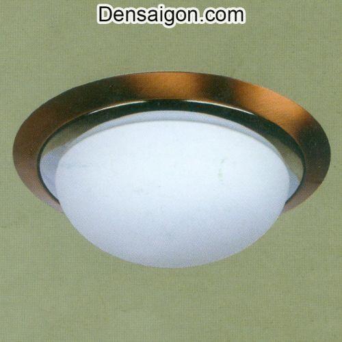 Đèn Áp Trần Tròn Hiện Đại Màu Nâu - Densaigon.com