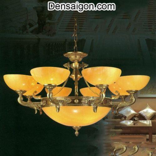 Đèn Chùm Cao Cấp Đồng Chao Đá Treo Phòng Ngủ - Densaigon.com