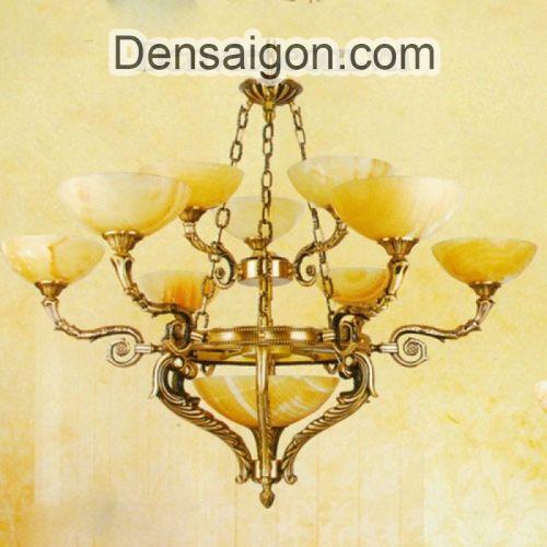 Đèn Chùm Cổ Điển Đồng Chao Đá Cao Cấp - Densaigon.com