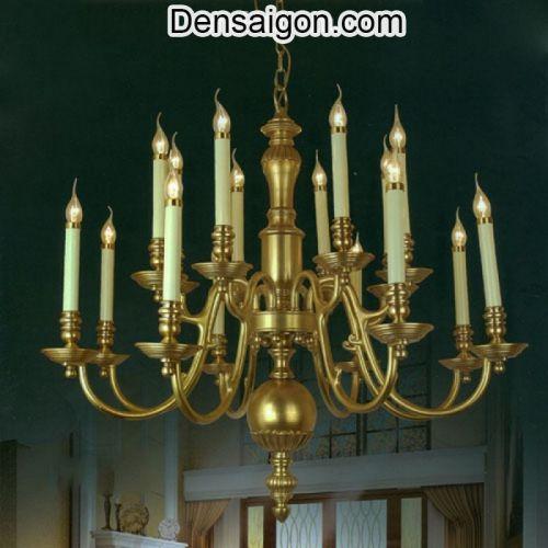 Đèn Chùm Đồng Bóng Nến Phong Cách Cổ Điển - Densaigon.com